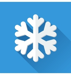 Simple snowflake icon in flat style vector image vector image