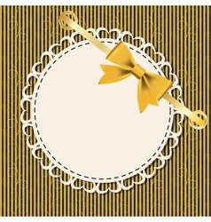 Vintage gold frame on floral background vector image vector image