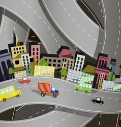 abstract of a city on the background of the site r vector image
