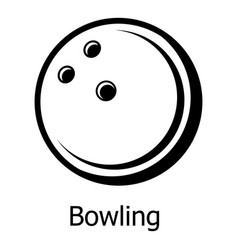bowling ball icon simple black style vector image
