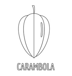 carambola icon outline style vector image vector image