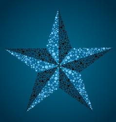 nautical star vector image