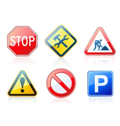 roadstyle icons vector image vector image