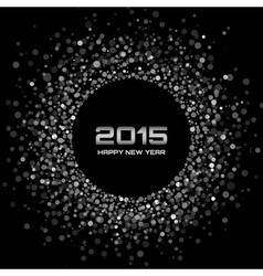 White - Black New Year 2015 Background vector image