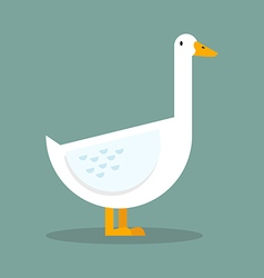 White goose flat style vector image