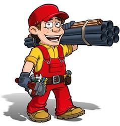Handyman Plumber Red vector image vector image