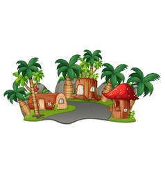 A fantasy land on white background vector
