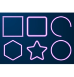 A set neon figures vector