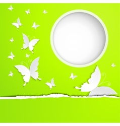background with butterflies paper vector image vector image