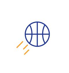 basketball line icon sport ball sign vector image