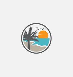 beach graphic design template logo vector image