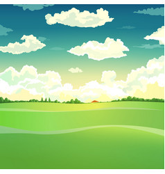 Beautiful country landscape vector