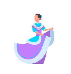 Beautiful mexican woman dancer in traditional vector