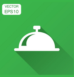 Bell icon in flat style alarm bell with long vector