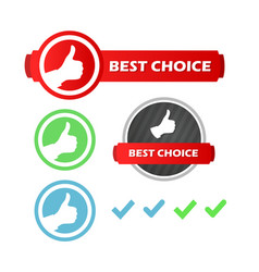 best choice set of icons vector image