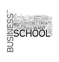 best undergraduate business schools text word vector image