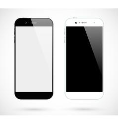 Black white smartphones vector image