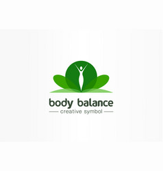 body balance nutrition beauty girl silhouette vector image