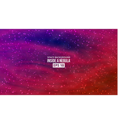 bright space background vector image