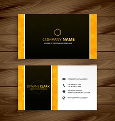 Business card yellow template vector