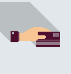 business man hand holding credit card in format vector image