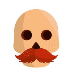 Cinco de mayo skull with moustache vector