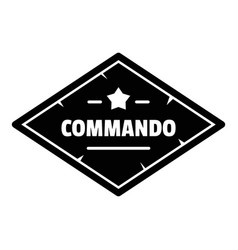 Commando troop logo simple style vector