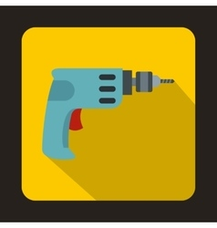 Cordless drill icon flat style vector image