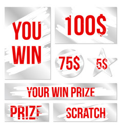 creative of lottery scratch vector image