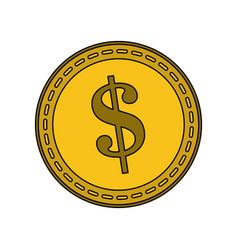 Dollar coin icon image vector