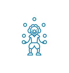 entertaining children linear icon concept vector image