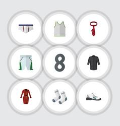 Flat clothes set of singlet uniform foot textile vector
