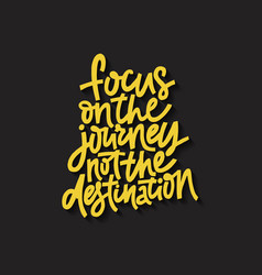 focus on journey vector image