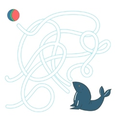 Game labyrinth find a way seal vector