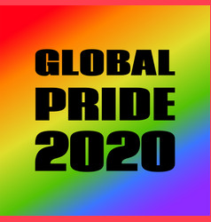 global pride 2020 banner for social media vector image