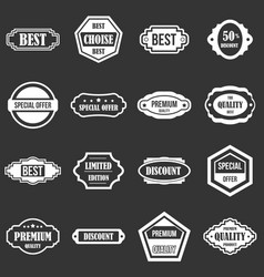 golden labels icons set grey vector image