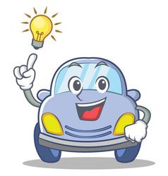 have an idea cute car character cartoon vector image