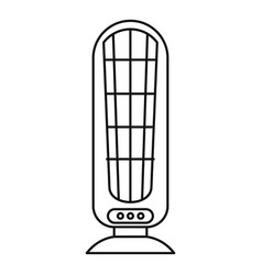 heater fan icon outline style vector image