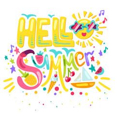Hello tropical summer vector