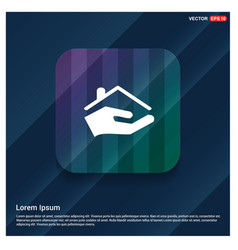 home insurance icon vector image