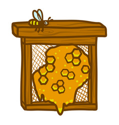 Honeycomb frame icon hand drawn style vector