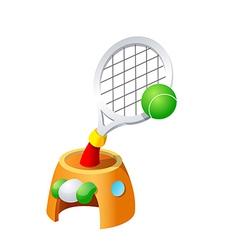icon tennis vector image
