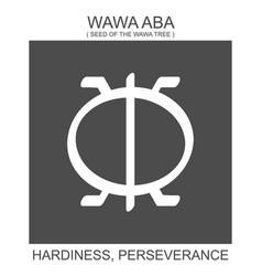 Icon with african adinkra symbol wawa aba vector
