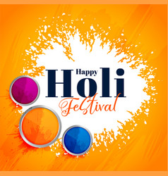 Indian happy holi festival attractive background vector