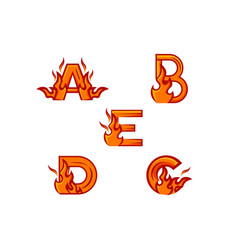 Initial set fire logo vector