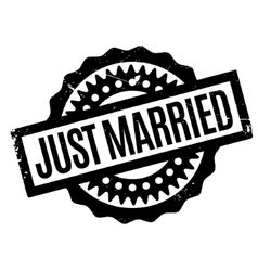 Just Married rubber stamp vector