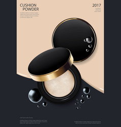 Makeup powder cushion poster template illus vector
