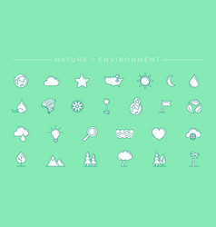 nature and environment concept line style vector image