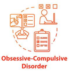 Obsessive compulsive disorder concept icon ocd vector