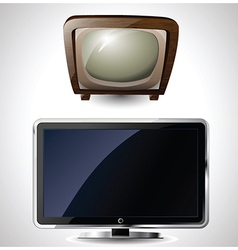 Old and new tv vector